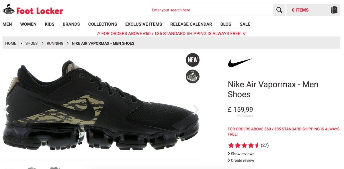 Nike Vapormax Black Camo. Foot Locker