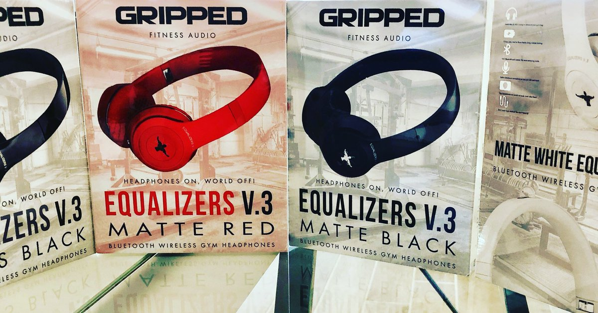 908e677968c ... Pair of Wireless Gym Headphones from Sponsor, GRIPPED FITNESS AUDIO at  the November 10th NPC Shawn Ray Hawaiian Classic!