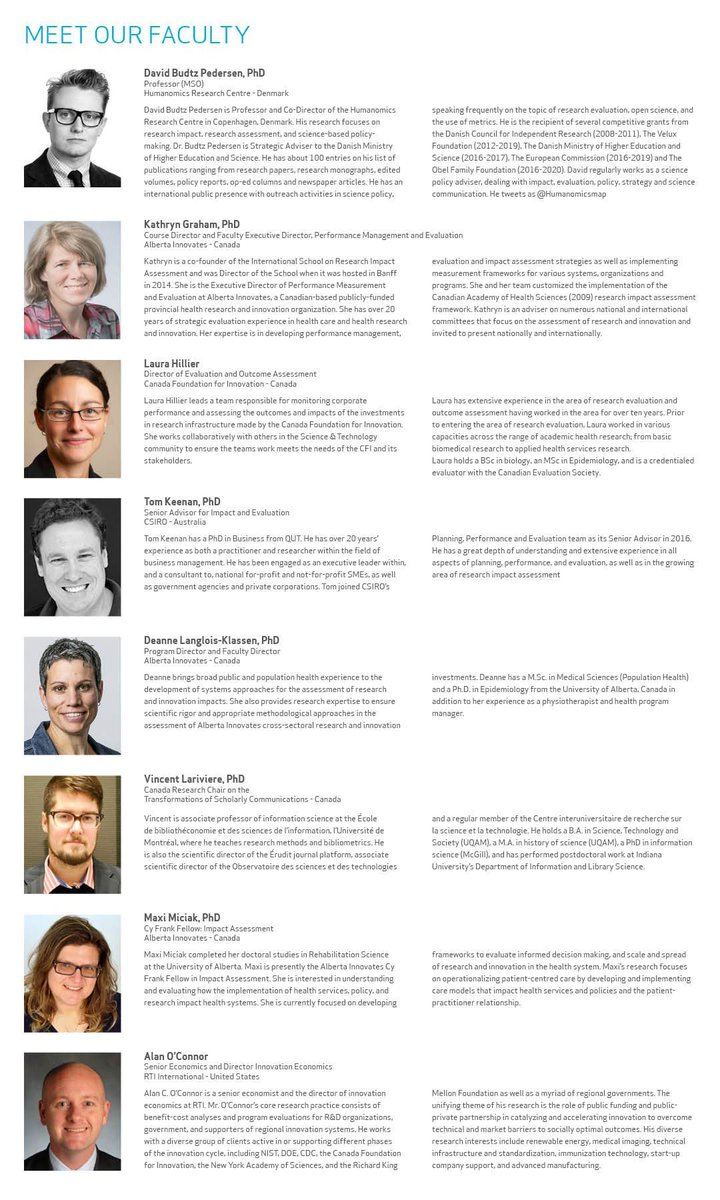 Check out our update program and the list of faculty members for our  2018 Research and Innovation Impact Assessment Course:  https:// buff.ly/2or5iqA  &nbsp;  . #RIIA18 #researchimpact<br>http://pic.twitter.com/HOcb6a5wRT
