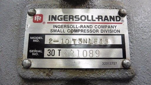 Ingersoll rand T30 Air Compressor manual