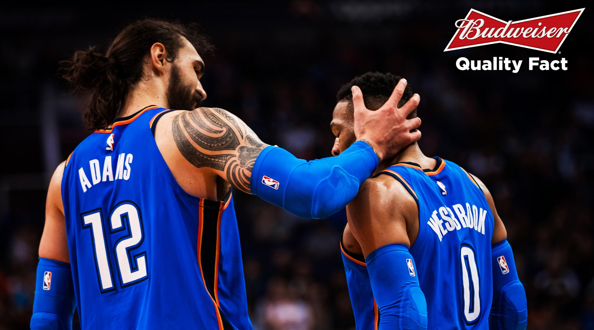 Russell Westbrook to Steven Adams is the NBA's leading assist combo with 222 this season. https://t.co/fvtpv5mASB