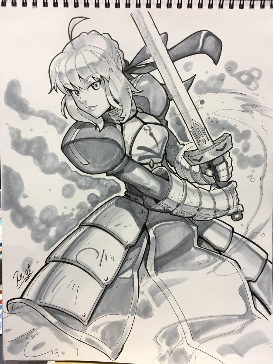 Reiq On Twitter Saber From Fate Stay Night Series Commission Done C2e2 Hope You Like It