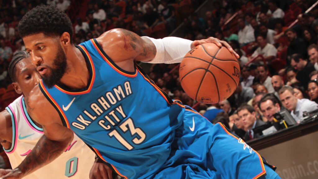 Thunder on 26-7 run with 14-point lead in 4th. PG's got 27.  �� https://t.co/XeoWjq7JYN