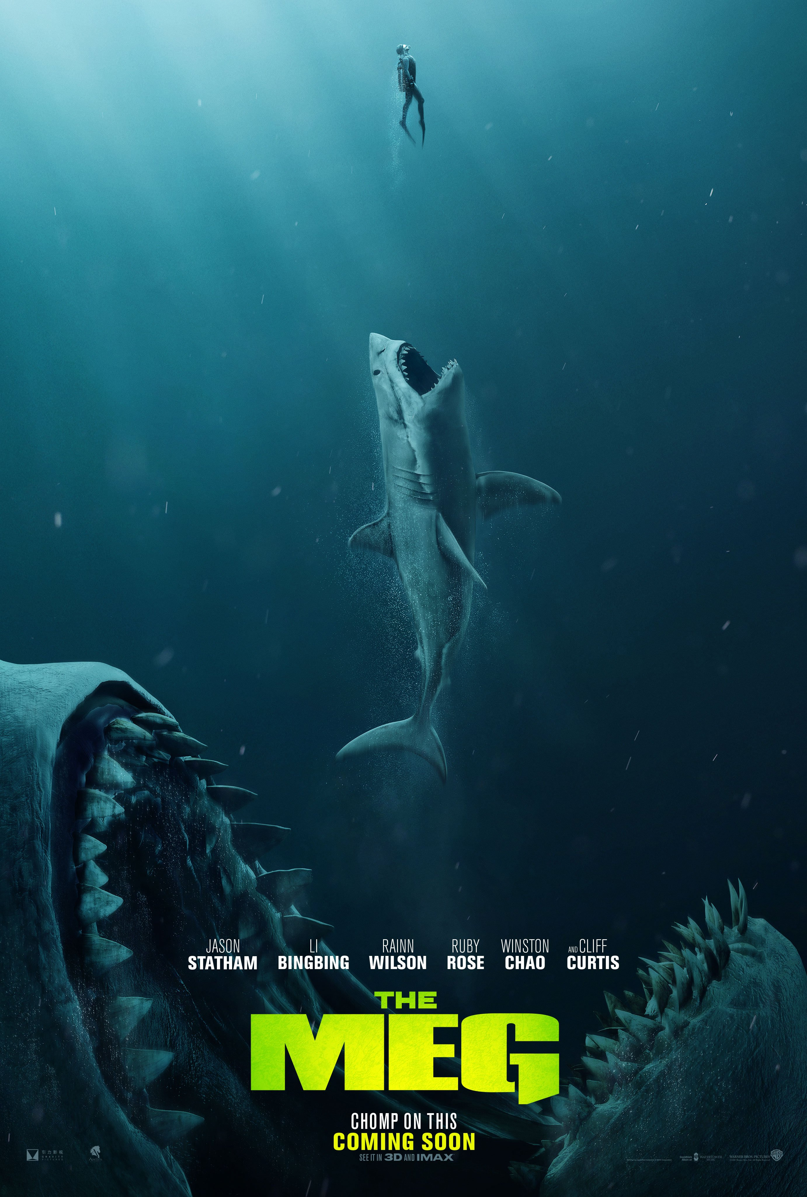 Jason Statham Hunts The Largest Shark To Have Ever Existed In The First Trailer For THE MEG