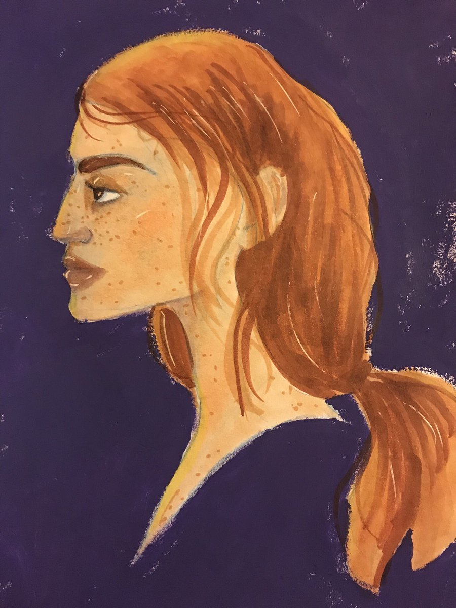 I was thinking about #YreneTowers from the #ThroneofGlass series #illustration #doodle #painting #artofthedaypic.twitter.com/0WdGvKDRPq