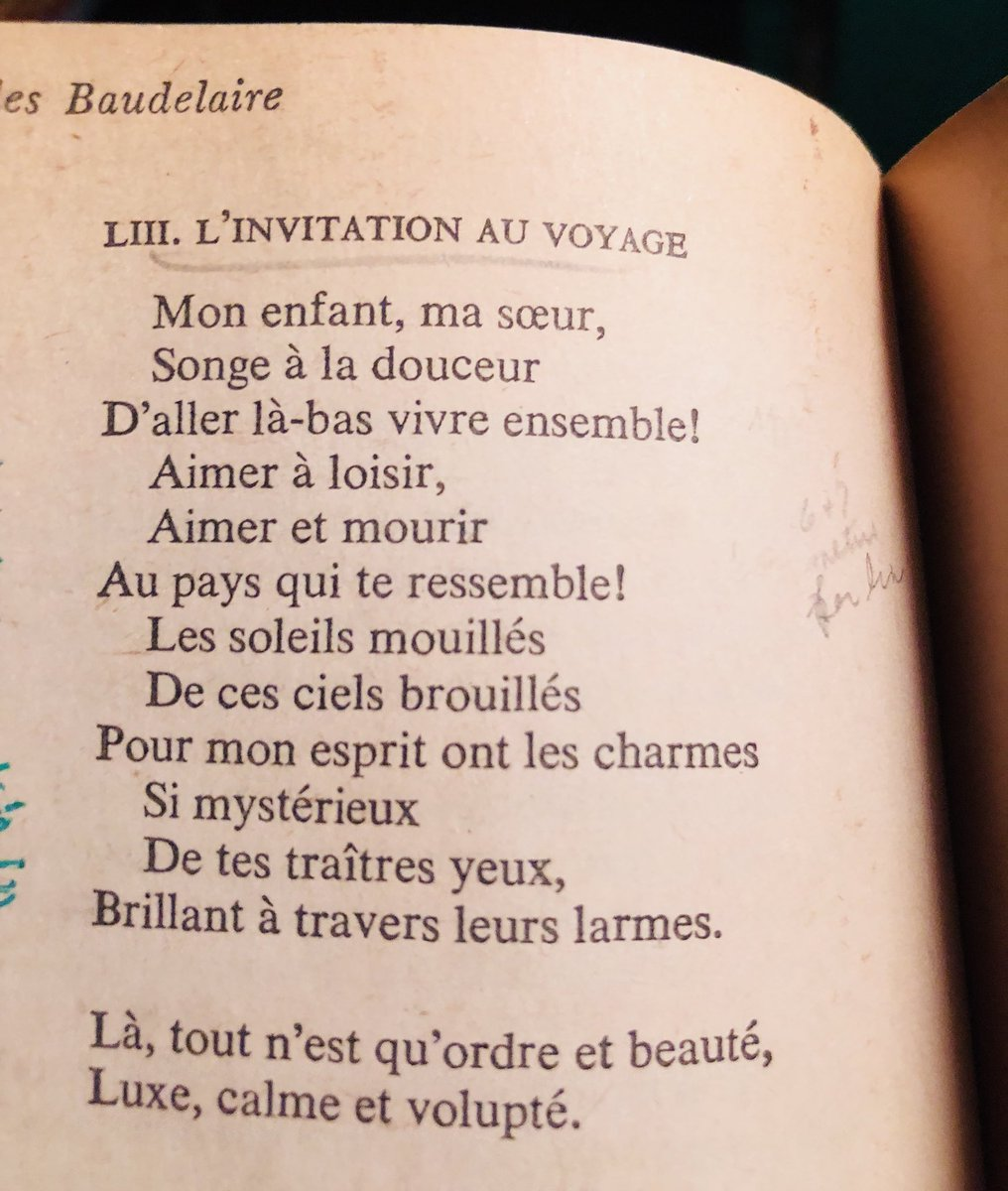 Eileen chengyin chow on twitter l tout nest quordre et beaut baudelaire linvitation au voyage httpsfleursdumalpoem148 a refrain edna vincent st millay rendered rather whimsically as there stopboris Gallery