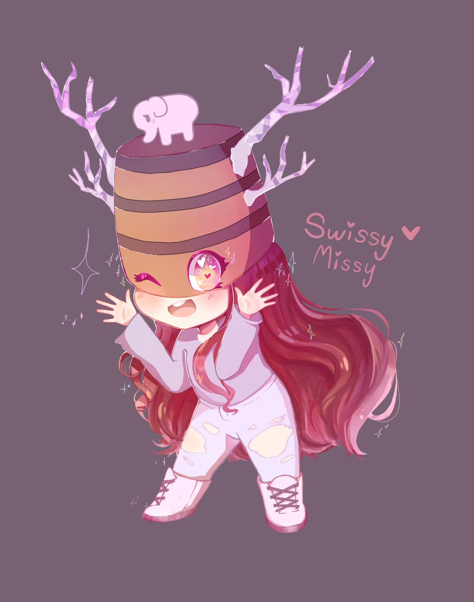 Cute Purple Roblox Avatar Swissy On Twitter Hey Macyfaz I Finished Your Roblox Character She Was Very Cute To Draw W Sorry If It Looks A Little Strange I Haven T Drawn In A