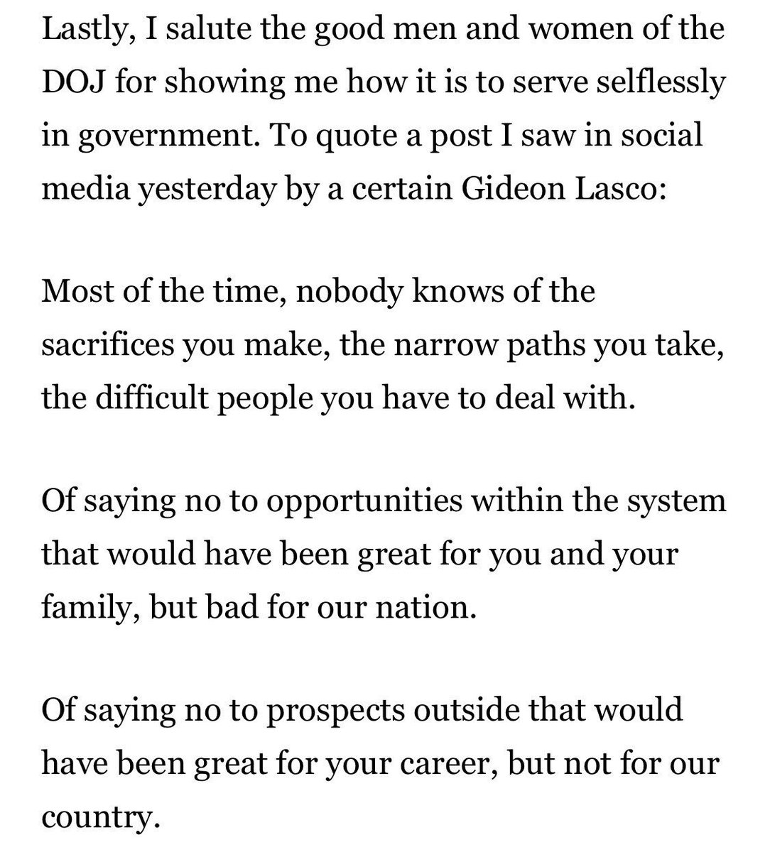 gideon lasco on twitter aguirre cites me in his farewell speech in  aguirre cites me in his farewell speech in doj but he was the last thing i  had in mind when i wrote an essay encouraging the good people in