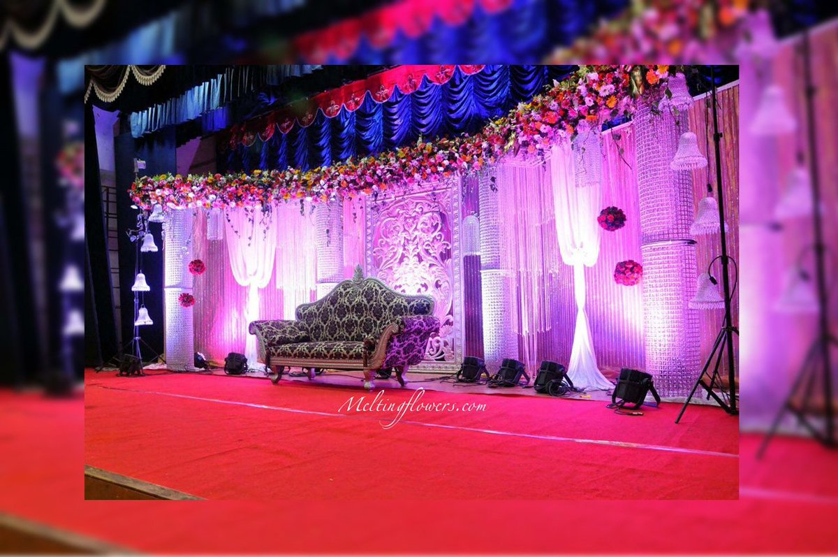 Melting Flowers On Twitter Crystal Wedding Stage Decoration In