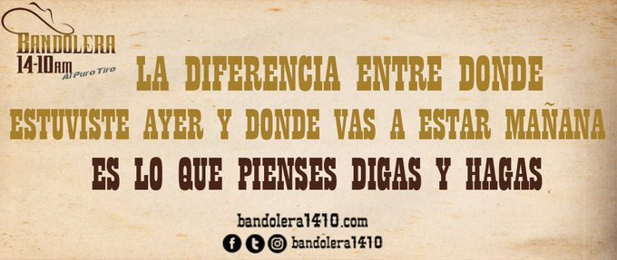 #EnLugarDeQuejarteDebes Foto