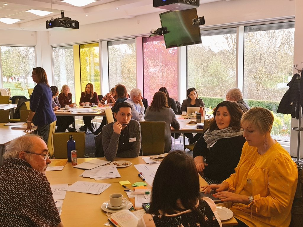 Exploring how institutions can support care and caring experienced learners workshop disscussions underway!  #ouwpseminars