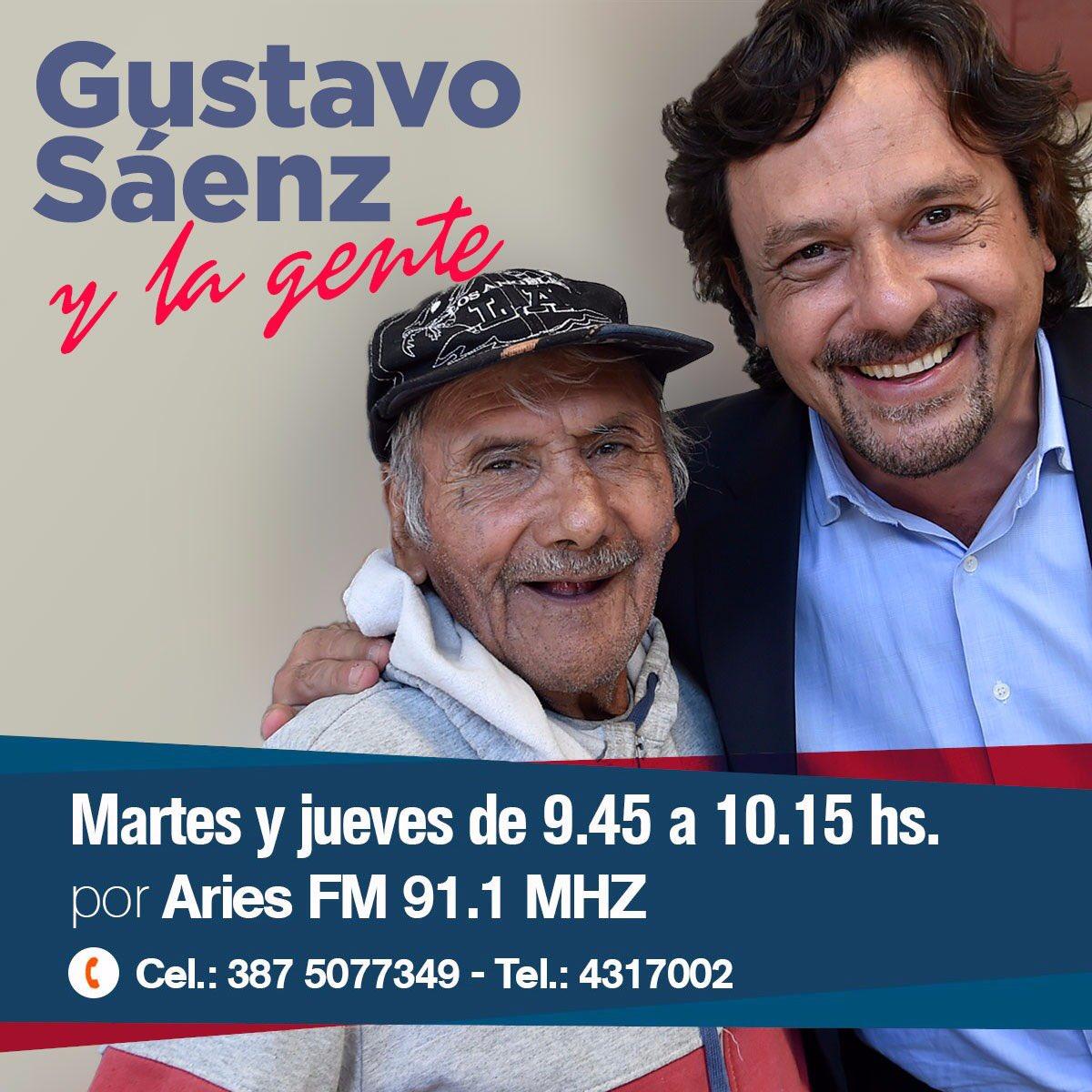 """En minutos, """"Gustavo Sáenz y la gente"""" p..."""