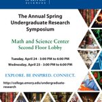 Mark your calendars now for next week's symposium featuring our amazing undergraduate researchers!