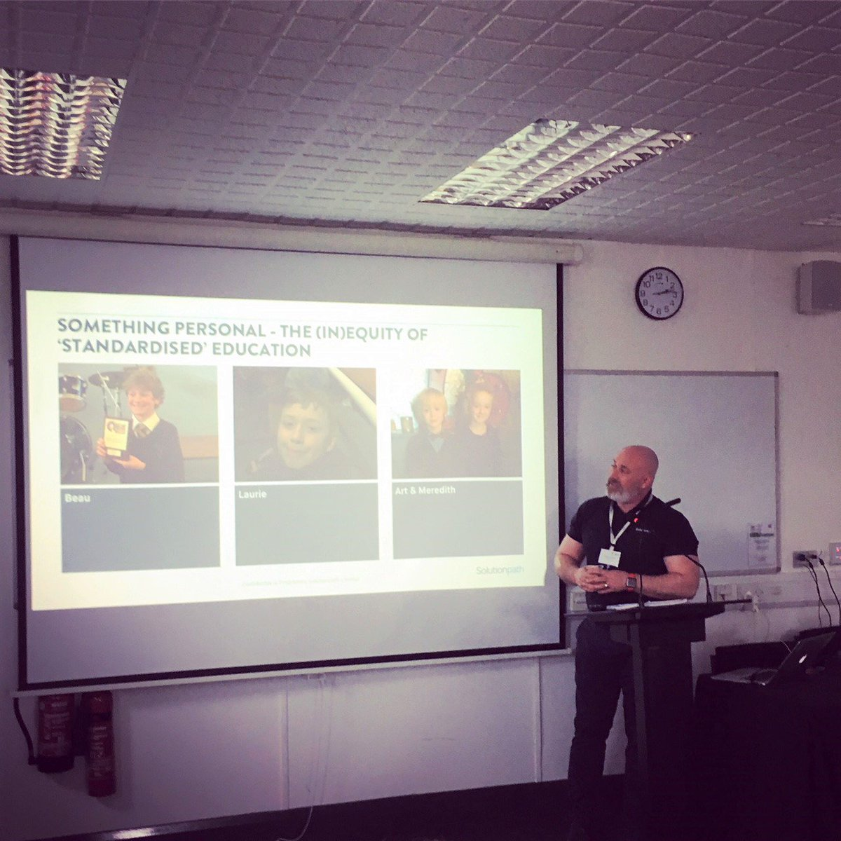 Our MD @GazzaToGo speaking at @SalfordUni on how Digital Engagement Learning Analytics can support the personalised learning journey of students in #HE, a key takeaway from the conference. Success is unlikely to be achieved with a one size fits all approach #studentexperienceconf<br>http://pic.twitter.com/nQHfvMA8VC