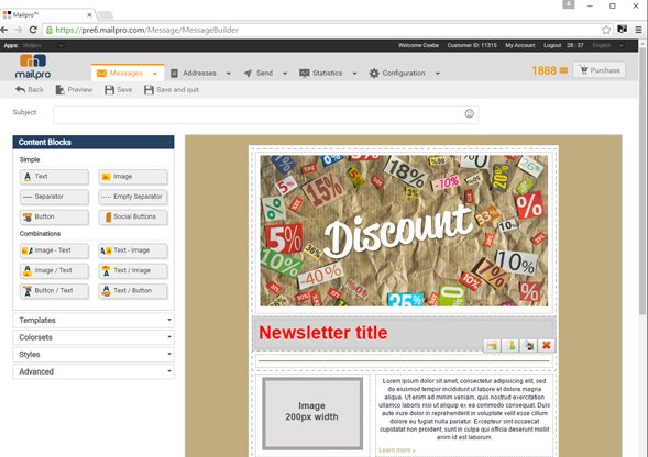 mailpro email marketing on twitter our newsletter builder is easy