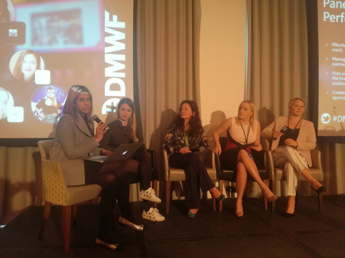 &quot;Influencers are going to become #publishers because people trust people more than ads&quot;. - Basia Soltysinska , indaHash&#39;s CEO  alongside other female #entrepreneurs discussing the topic of  &quot;Partnering to drive performance&quot;  at the #DMWF conference    Check more here: <br>http://pic.twitter.com/rY6O3Sn9UI