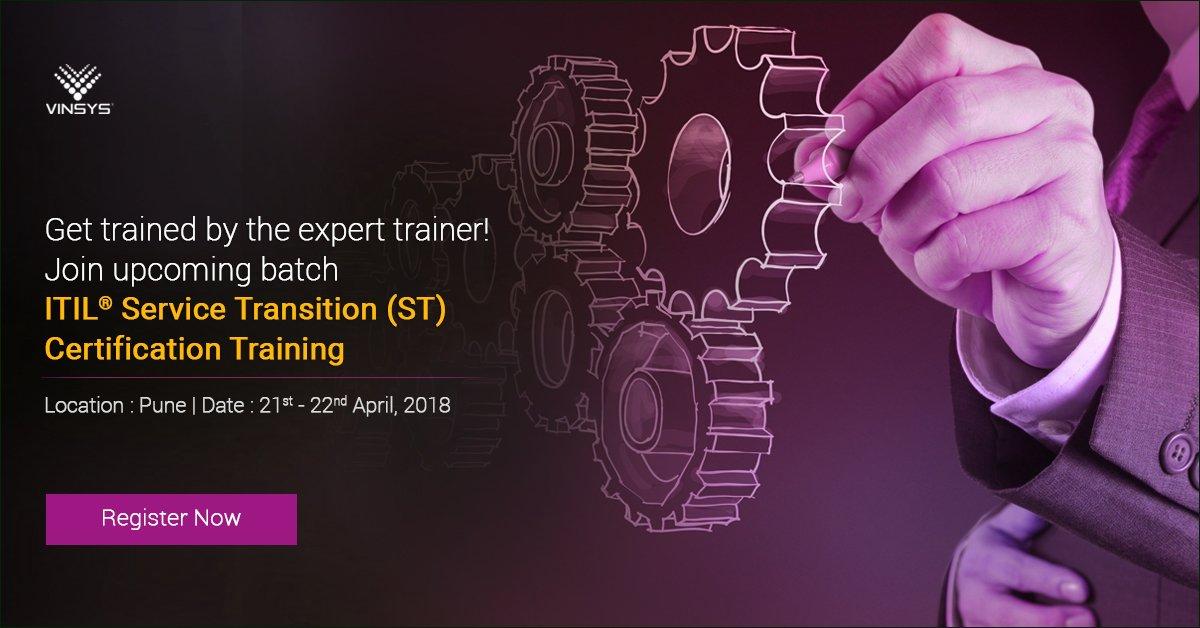 Vinsys On Twitter Itil St Training Certification In Pune On 21