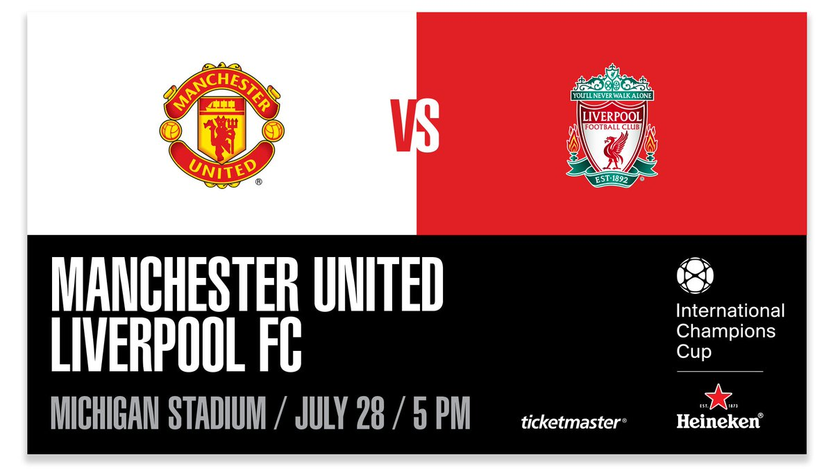 JUST IN: The International Champions Cup is bringing together two of the best soccer clubs in the world to Michigan Stadium!   @ManUtd and @LFC will face off on July 28!   INFO » myumi.ch/aZYKK  #ICC2018 | #ChampionsMeetHere | #GoBlue