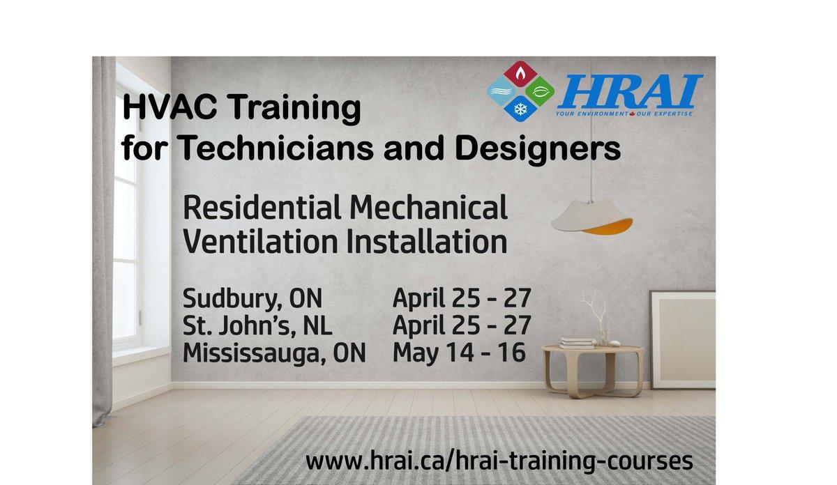 Hrai On Twitter Hvac Training In Sudbury Mississauga