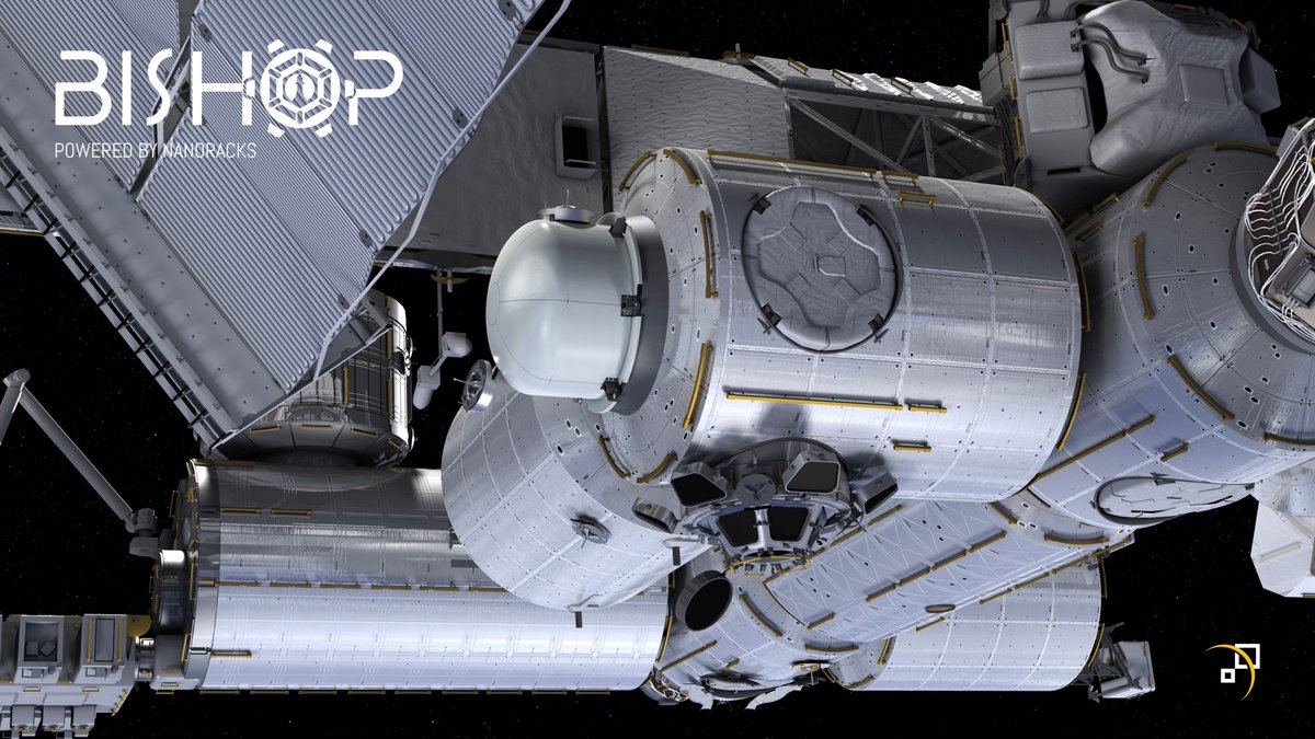 "Press Release: Today, we announce that our @Space_Station commercial Airlock, now formally named ""Bishop,"" has completed Critical Design Review (CDR) and we are moving into fabrication with our partners at @Thales_Alenia_S. https://t.co/iaOFfD4P2C  #34SS #SpaceSymposium"