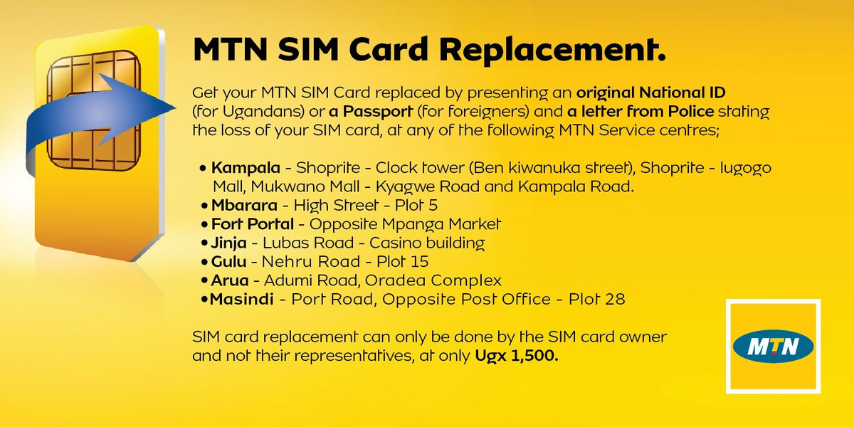 Mtn uganda on twitter announcement sim card replacement is now mtn uganda on twitter announcement sim card replacement is now available at the select mtn service centers listed below which are equipped with the spiritdancerdesigns Image collections