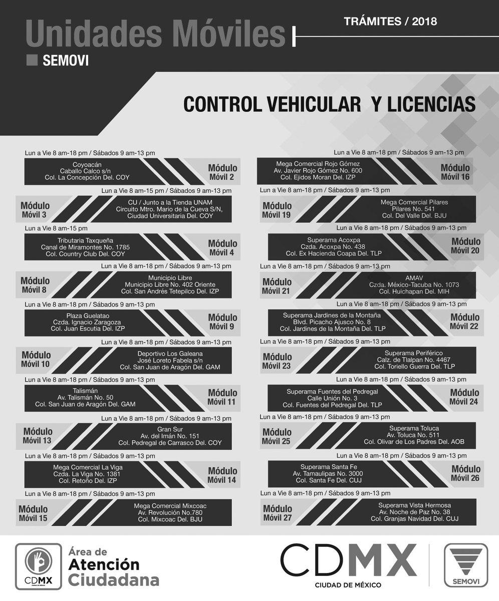 Secretaría De Movilidad Cdmx On Twitter Ubicaciones Y