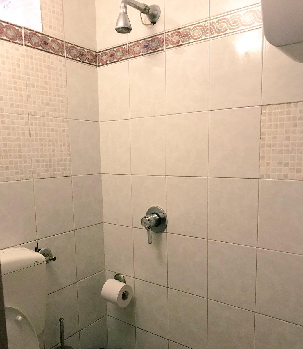 シチリアで母がお店のトイレからビショビショで出てきて、何事!?と思ったら、「流すレバーだと思ったらシャワーのレバーで騙された!」とのこと。これは…頭上のシャワーに気付けるかで生死が決まる恐ろしいトイレ構造
