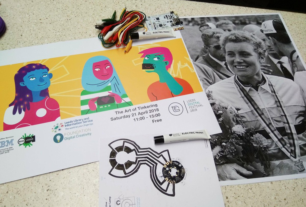 Liquorice Allsorts and creative thoughts ready for Saturday's #TheArtofTinkering event with @leedslibraries &amp; @FDNdigicreate. Celebrating inspirational women through digital crafts and this spot of tinkering puts #BerylBurton under the spotlight   https://www. eventbrite.co.uk/e/the-art-of-t inkering-tickets-44872493837 &nbsp; …  #STEAM<br>http://pic.twitter.com/IBs8J4QEbI