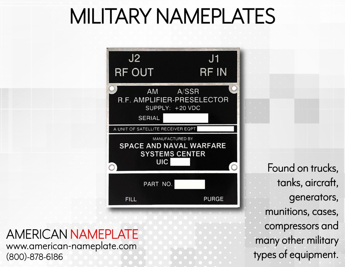 American nameplate on twitter we can manufacture to military contact our specialists today with your blueprint or mil spec number to get started with a quote 800 878 6186 nameplate placard label decal military malvernweather Images