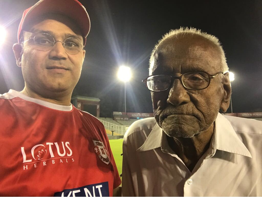 Image result for telugu news, The 93 year old is the heart of his fan.. sehwag