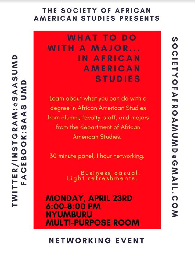 letters sciences on twitter what can you do with a major in african american studies find out at this networking event on monday 423