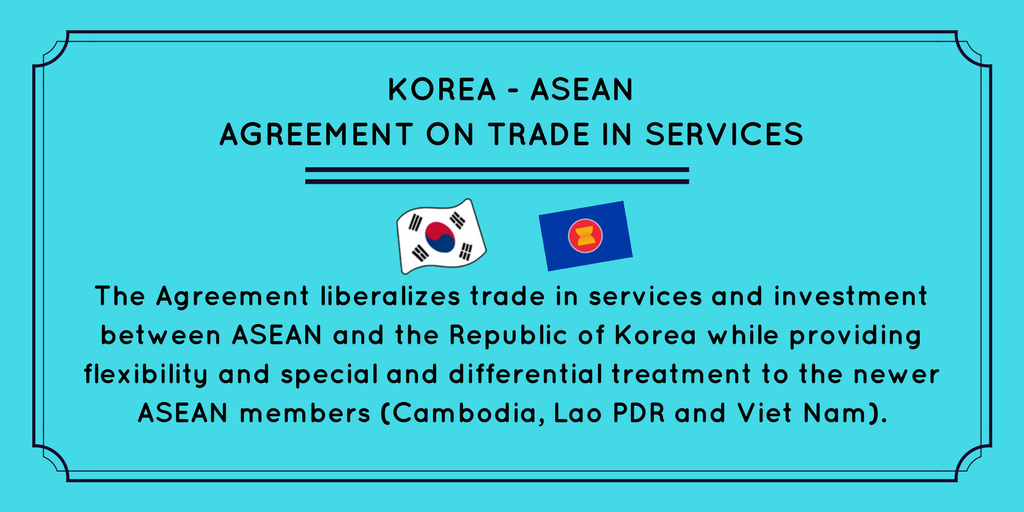 Wto On Twitter The Services Agreement Between Korea And Asean