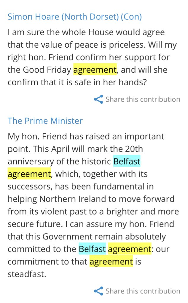 Faisal Islam On Twitter Pm Not Using Good Friday Agreement