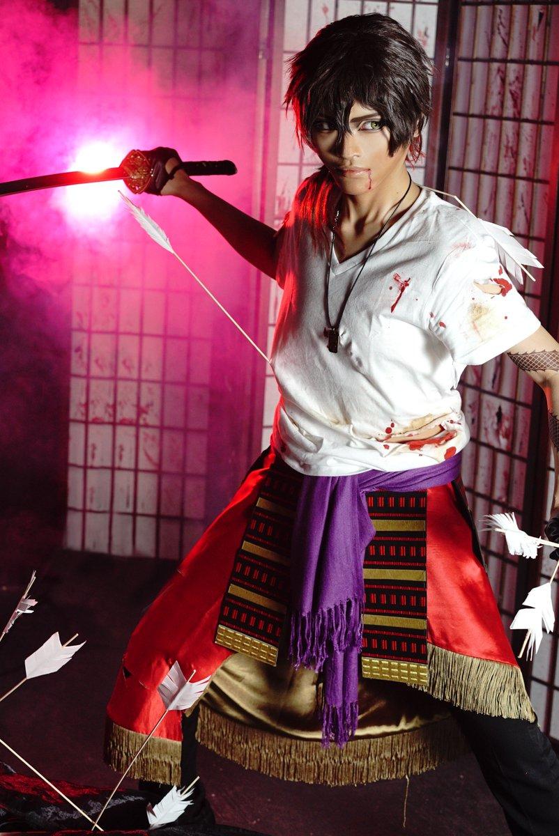 ▽コスプレ/大倶利伽羅/血糊有  戦  Photo:あるさん Model:NANASI Studio:クロームスタジオさん