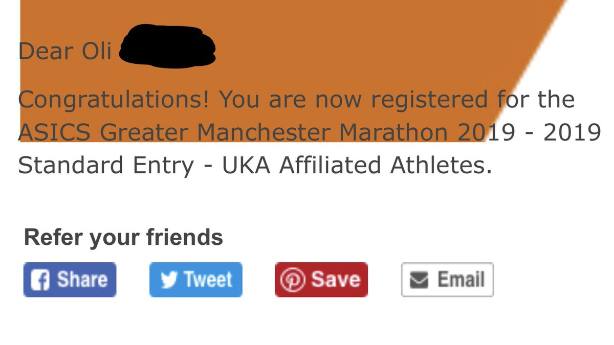 So this just happened!  I've entered the 2019 Manchester Marathon!!!  It'll be my 1st ever marathon!  Running #IMOAC & to raise money for @RMCHcharity.  Feeling nervous😳, excited😆& scared😱! Which other @UKRunChat runners are also running? 💚🏃‍♂️