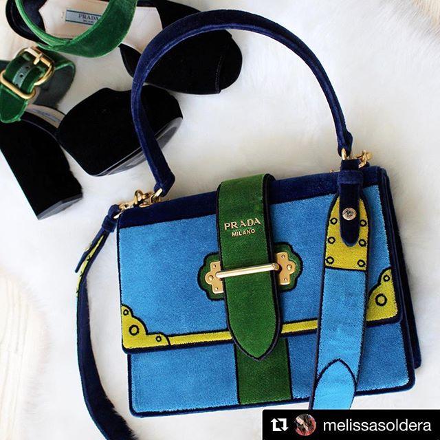 a620de0e090c Life with colors Prada Trompe L'oeil Cahier Velvet Shoulder Large Bag photo  credit @