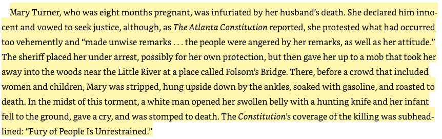 content warning: this is a pretty gruesome story. it's from Philip Dray's 'At the Hands of Persons Unknown' https://t.co/08jVmVukFE