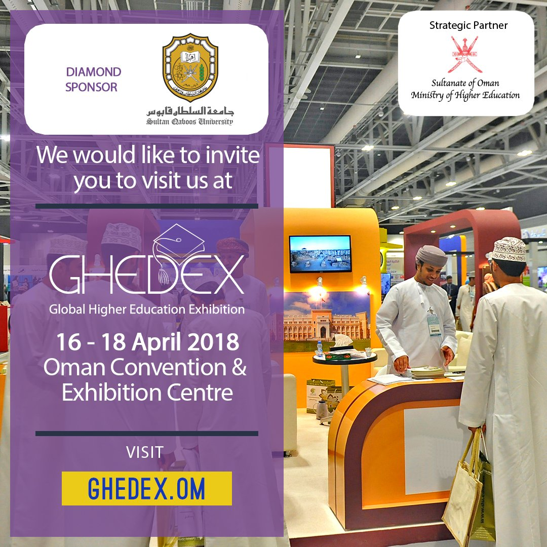 Ghedex Oman S Higher Education Show A Twitter Explore High Calibre Courses On Offer From Sultan Qaboos University A Diamond Sponsor At Ghedex2018 Sultan Qaboos University Is A Premier Higher Educational Institution In The