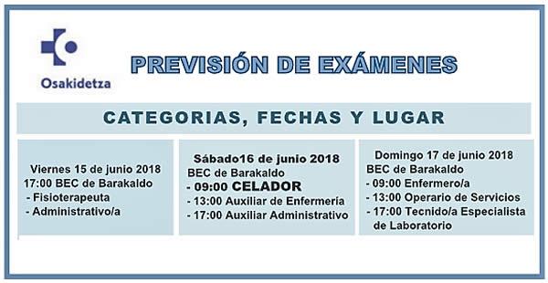 POSIBLES FECHAS DE EXÁMENES DE LA OPE DE OSAKIDETZA 2016/17... Dab_IfkXkAAgUgo