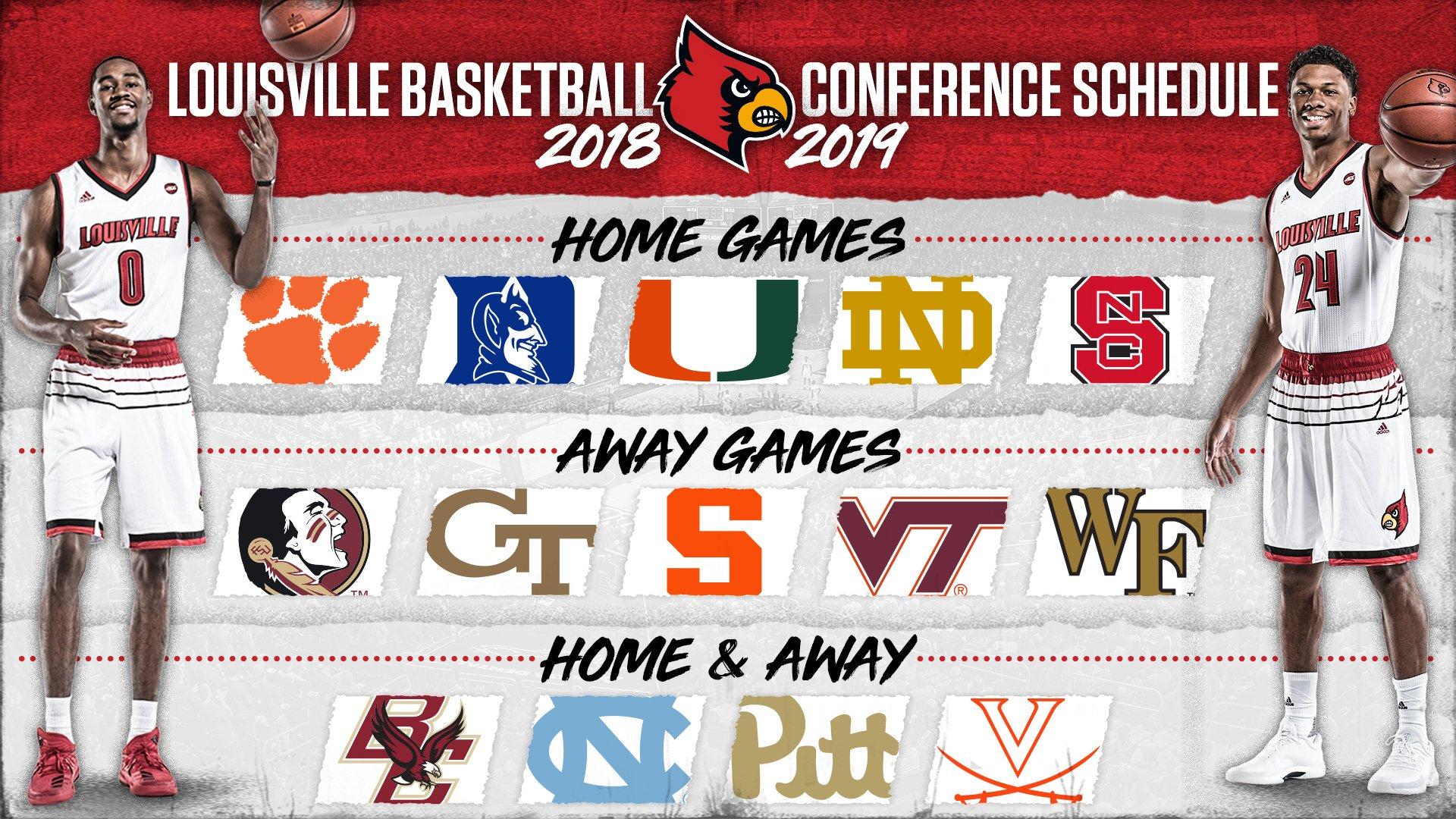 """Uk Men S Basketball 2018 2019 Schedule: Louisville Basketball On Twitter: """"The Cardinals Will Face"""