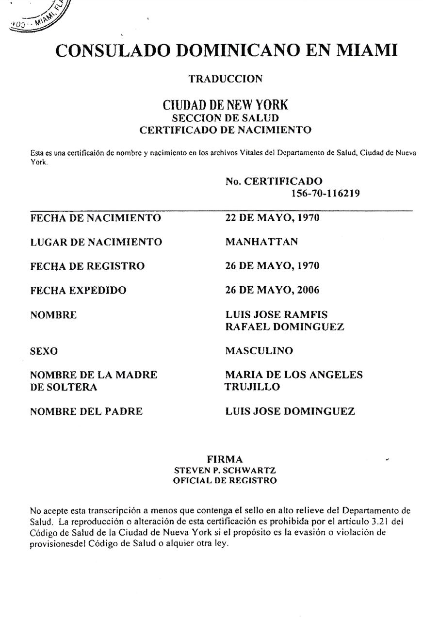 Famoso Certificado De Registro De Nacimiento Nueva York Inspiración ...