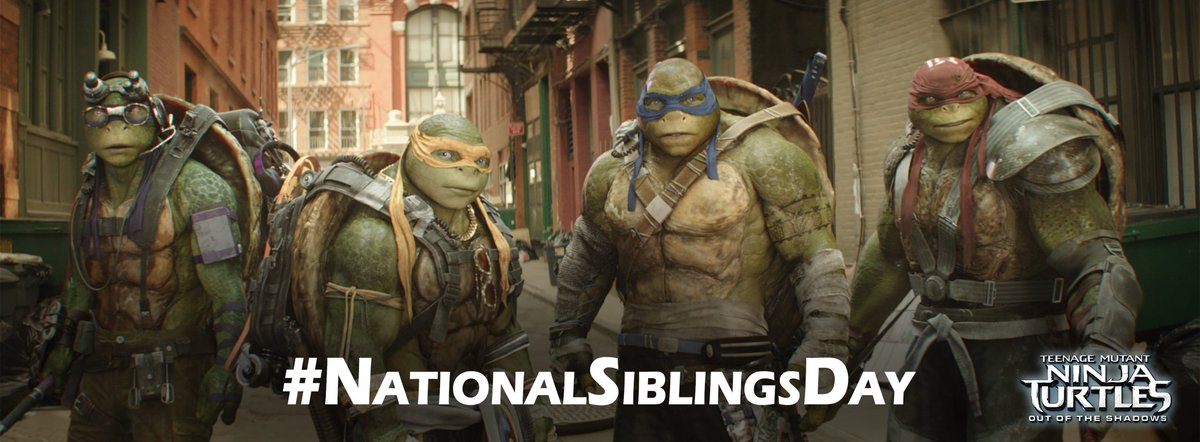Just 4 brothers who hate bullies. 🐢🐢🐢🐢 #NationalSiblingsDay