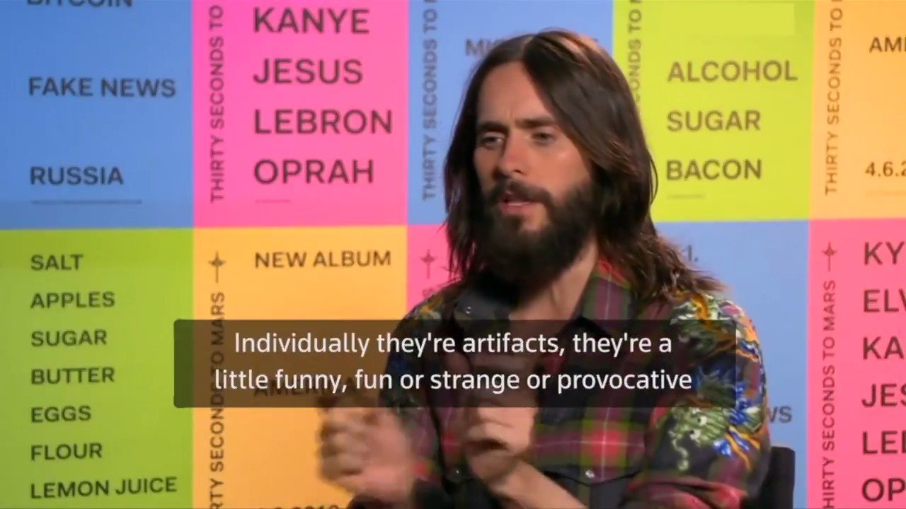 RT: @reuters :Jared Leto goes the distance to promote new album 'America.' https://t.co/JURq2sVDnT