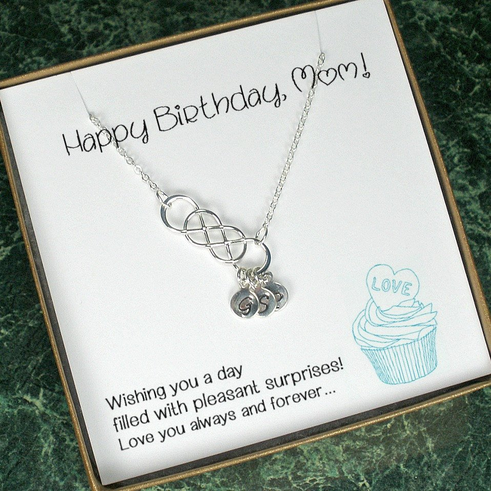 Birthday Gifts For Mom Personalized Gift Necklace Mother In Law Initial