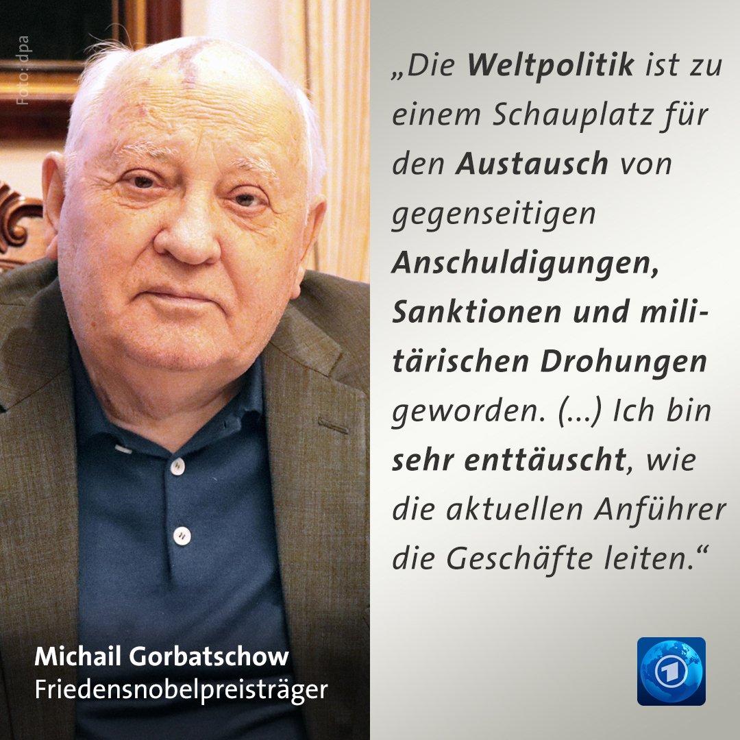 Den Präsidenten von #Russland und den #USA wirft #Gorbatschow vor, sie seien unfähig zum Dialog und zur Diplomatie.