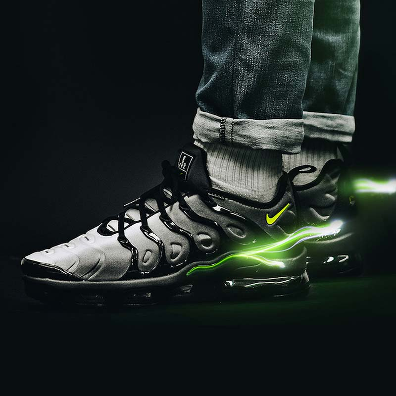 0281310fb4c30 The Nike Air  Vapormaxplus  BlackVolt is available now in store or online  at http