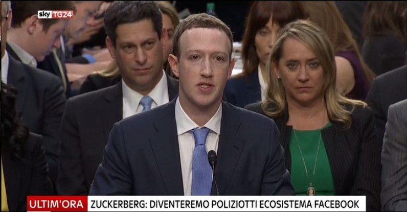 #UltimOra #Zuckerberg al Congresso Usa: diventeremo poliziotti dell'ecosistema #Facebook