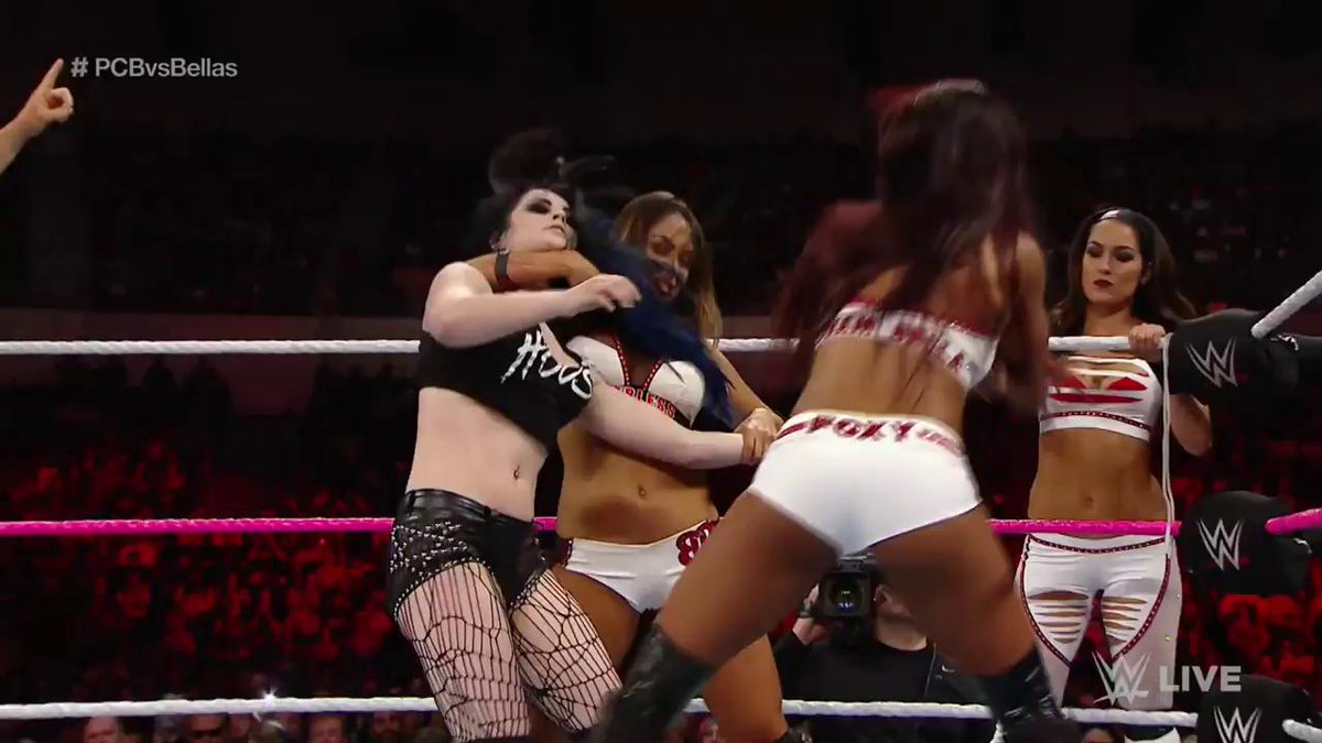 No one was safe when @RealPaigeWWE was on a RamPAIGE, and that included her former team members in #TeamPCB. #ThankYouPaige @MsCharlotteWWE @BeckyLynchWWE