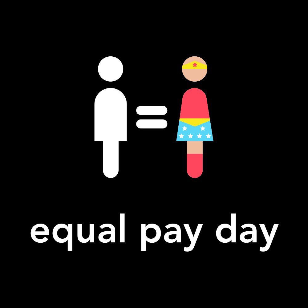 #EqualPayDay should not even exist, but as long as there is a disparity in what women earn we'll be here to remind you.We don't want to play catch-up. It's very simple: equal pay for equal work.