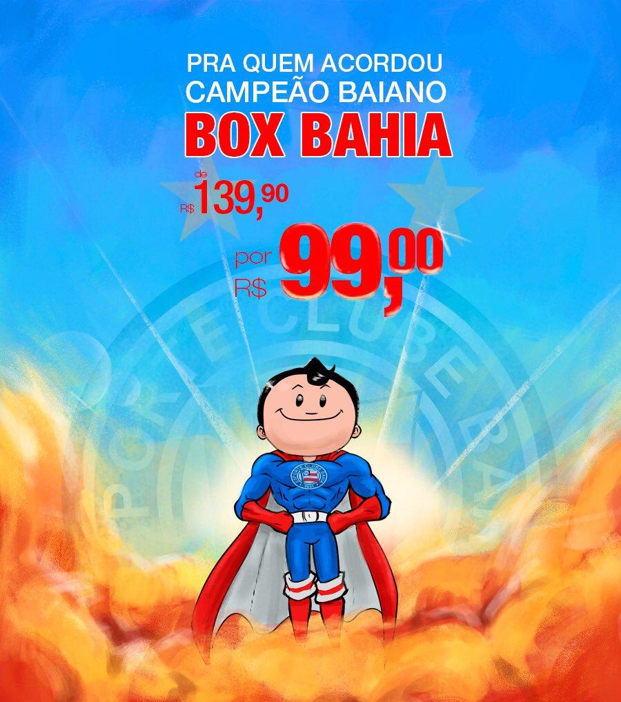 📦 Promoção Box Bahia! Todos os planos por apenas R$ 99 + frete. Visite o site https://t.co/CeIuHH6bDH e faça sua assinatura até amanhã. Comemore o título com produtos incríveis do Esquadrão #BBMP